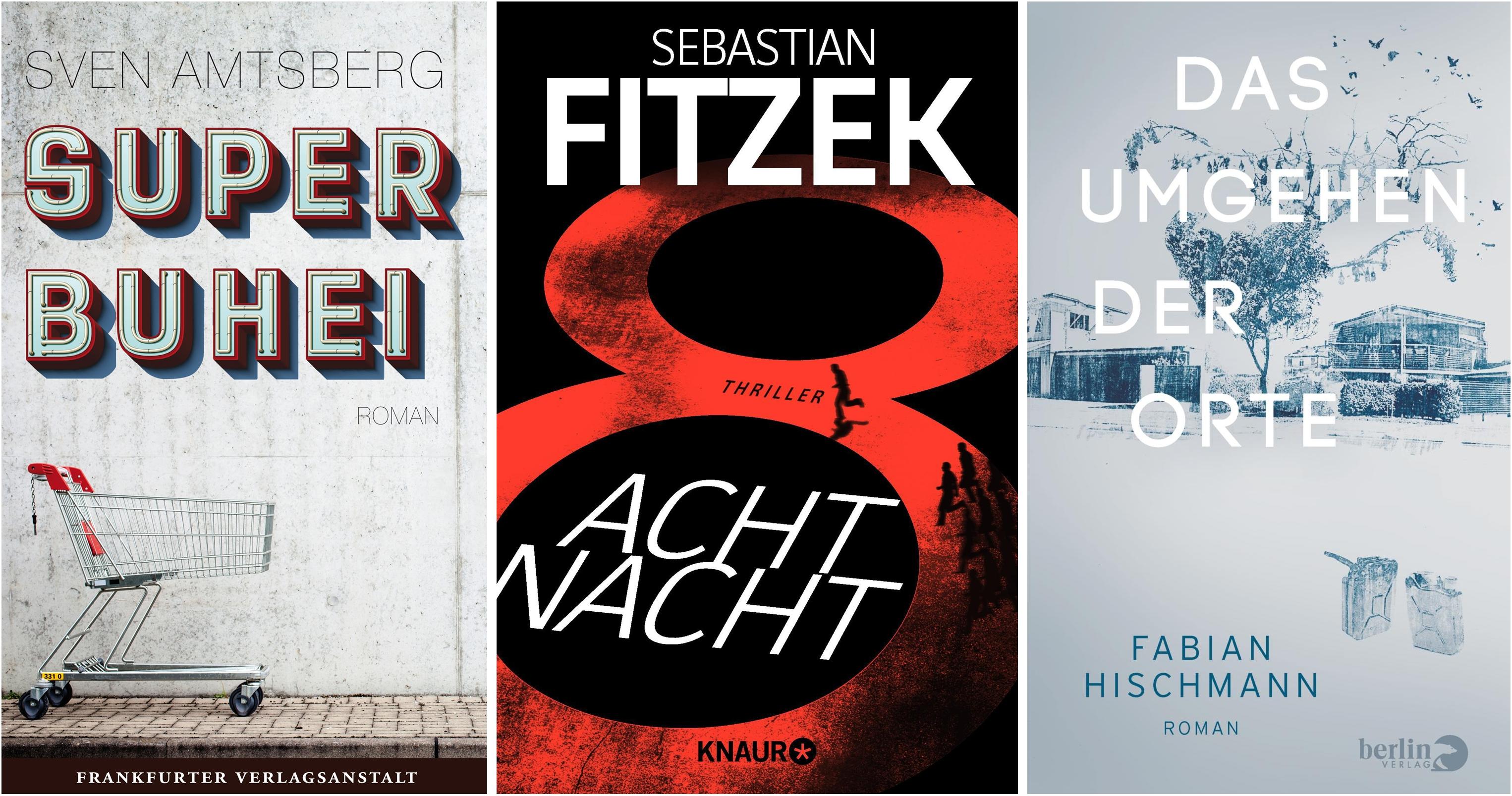 Cover der Bücher Superbuhei, AchtNacht, Das Umgehen der Orte