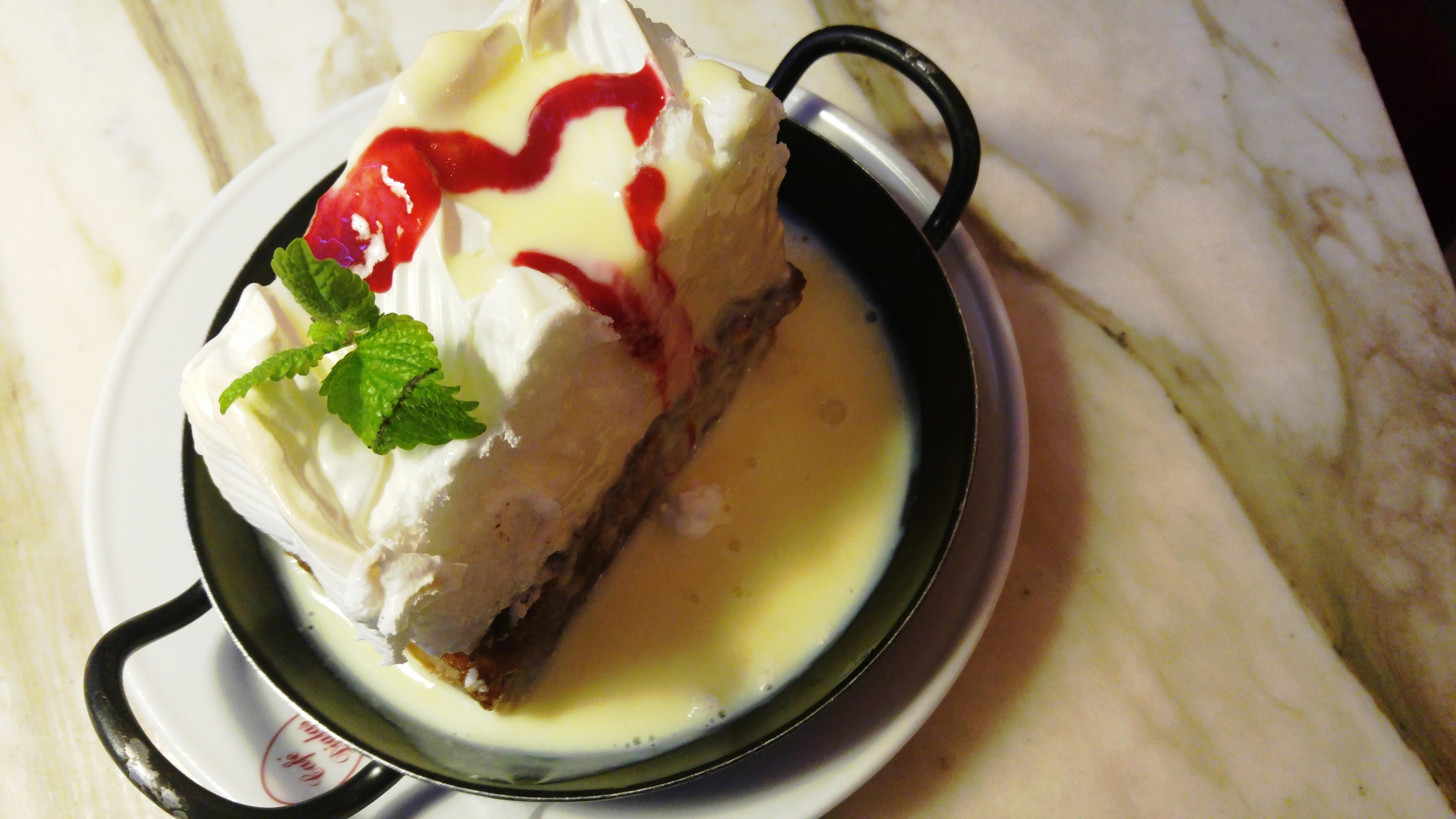 Bild des Desserts Scheiterhaufen