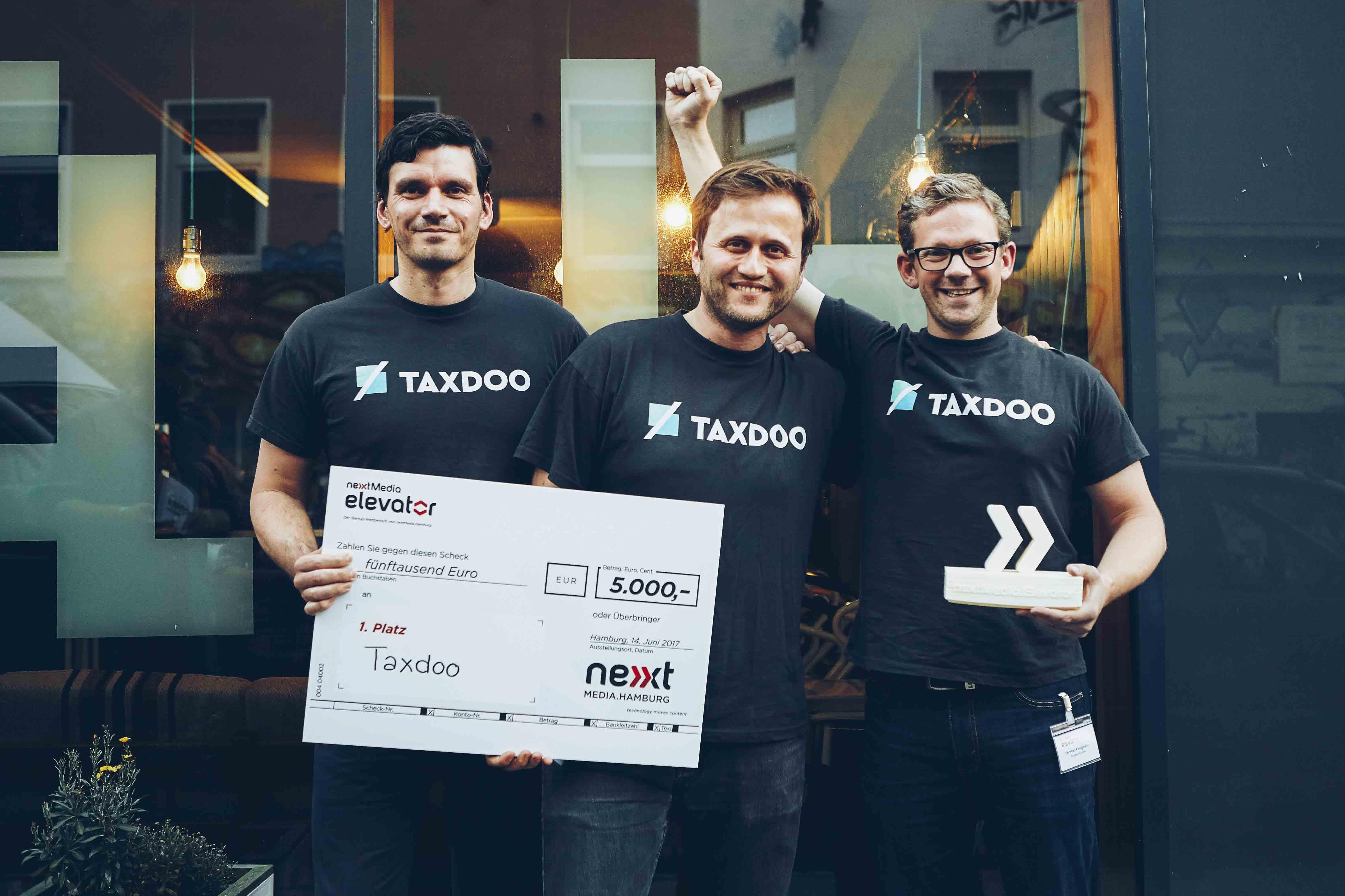 Gründer des Startups Taxdoo und Gewinner des nextMedia.Elevator