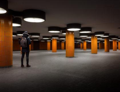 Säulen im Untergrund
