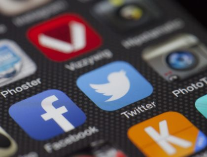 Twitter auf einem Smartphone