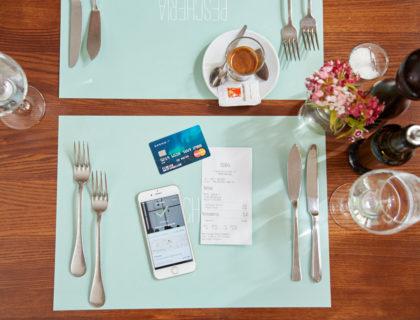 Mittagessen-App Lunchit und Spendit-Karte