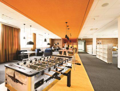 Ort der Zusammenkunft bei Lufthansa Technik