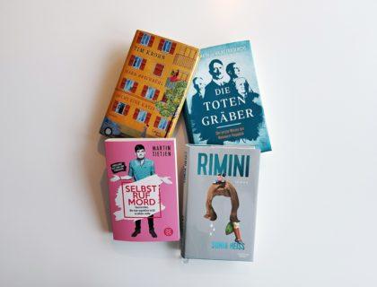 Vier Bücher für den Sommerurlaub