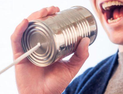 Büchsen-Telefon