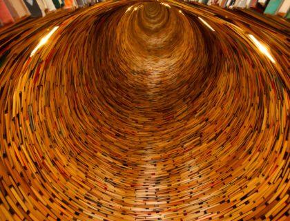 Ein Tunnel aus Büchern