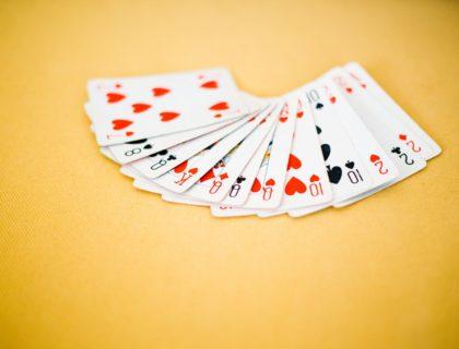 Karten eines Kartenspiels